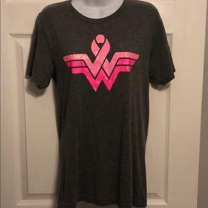 Tops - Wonder Woman breast cancer awareness T!